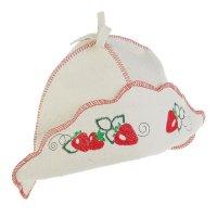 Банная шляпа «клубника»