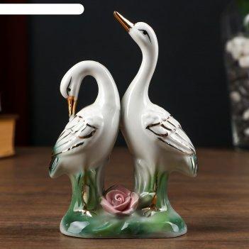 Сувенир керамика 2 цапли 15х10х4,5 см