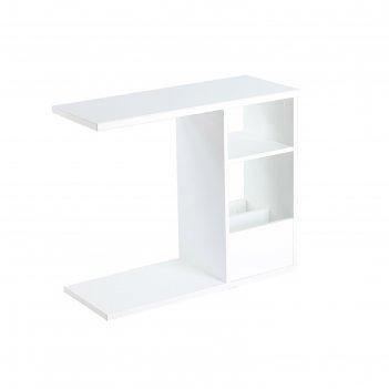 Столик приставной сп-01 ст1, 700х320х660, белое/белое