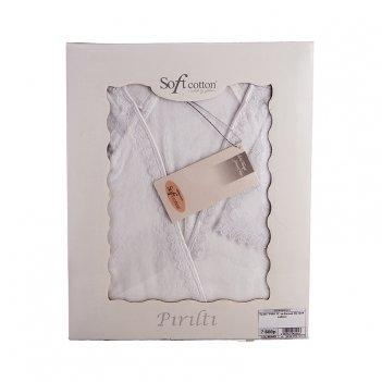 Халат pirilti цв.белый (s) (soft cotton)