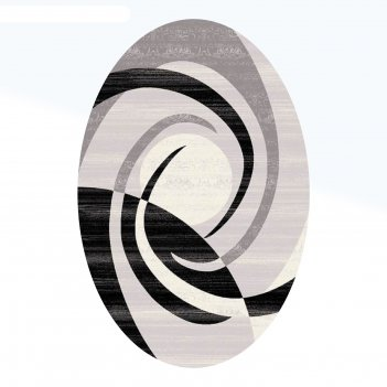 Ковёр omega carving  1378 grey/black 3.0*4.0 м, овал