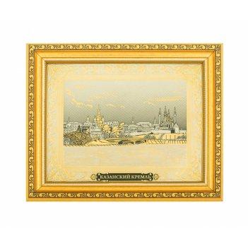 Панно казанский кремль (покрытие золотом, никелем) златоуст