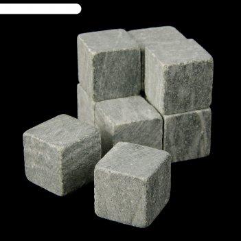 Камни для виски, 9 шт., мешочек из текстиля, размер камня 2x2x2 см