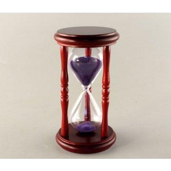 Часы песочные на 5 минут с фиолетовым песком