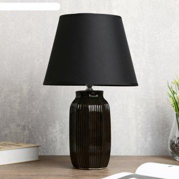 Лампа настольная орлеан 1х40вт е14 черный 28х28х43 см.