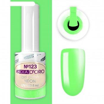 №123 гель-лак dia d`oro classics professional 8 мл.neon