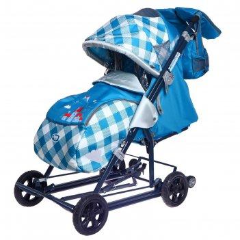 Санки-коляска «ника детям 8-2к», капри в клетку