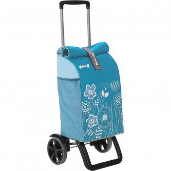 Сумка-тележка rolling thermo, 50 л, термозащитная, цвет лазурно-голубой