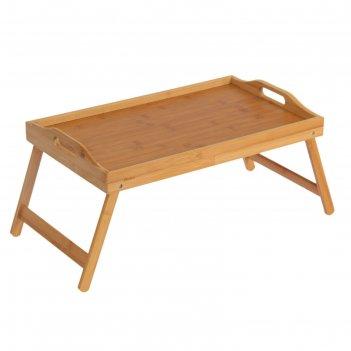 Столик для завтрака 60х31х20,5 см, бамбук