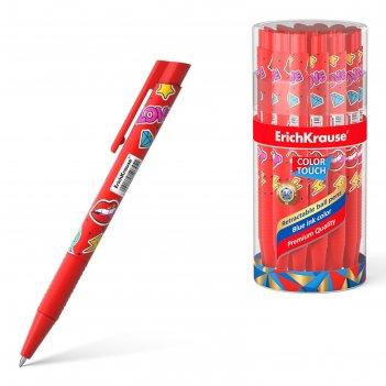 Ручка шариковая автомат erichkrause colortouch sweet love, узел 0.7мм, чер