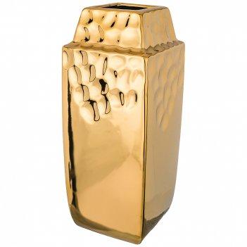Ваза декоративная золотая коллекция 11,5*11,5 см высота=29 см (кор=12шт.)