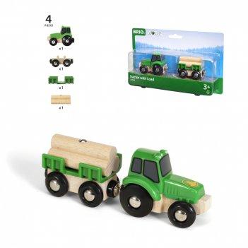 Brio трактор с бревнами