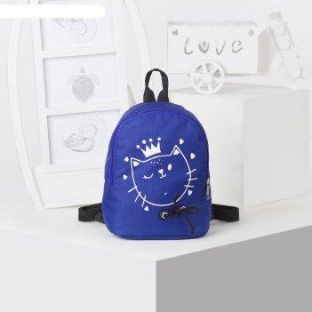 Рюкзак дет рд-07, 17*12*20, отдел на молнии, синий
