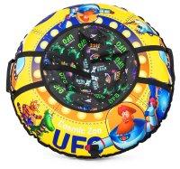Надувные санки-ватрушка (тюбинг) cosmic zoo ufo капитан клюква