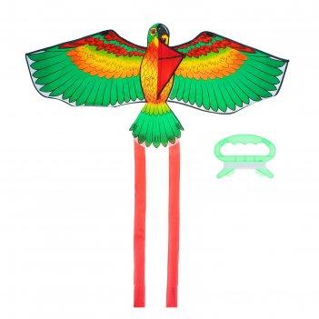 Воздушный змей птица с леской