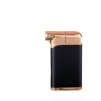 Зажигалка трубочная с тампером colibri pacific, черный-красное золото