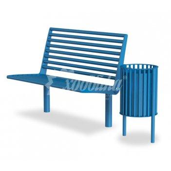 Комплект «палермо цветной» скамейка + урна