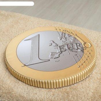 Подушка на стул монета 1 евро, d-40, габардин, поролон