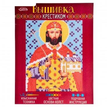 Набор для вышивания крестиком святой стефан (степан) размер основы 21,5*29