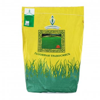 Семена газонная травосмесь газон для ленивых, 5 кг