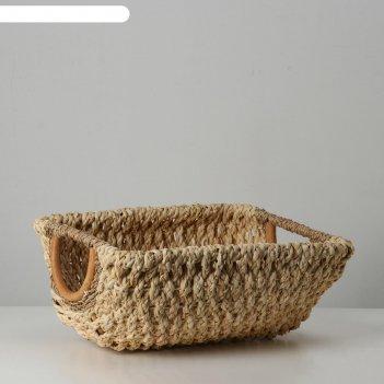 Корзина плетеная, 35х30х15 см, кукурузный лист
