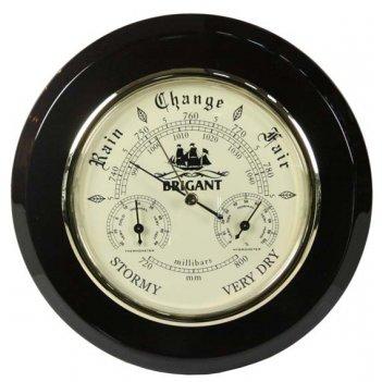Метеостанции домашние brigant: барометр, термометр, гигрометр 20см