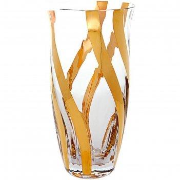 Ваза 23 см, золотая спираль