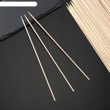 Шампуры деревянные 25 см grifon 100 шт