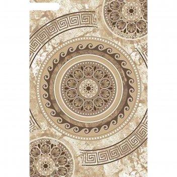 Ковёр хит-сет пп valencia deluxe d300, 1*2 м, прямоугольный, cream-brown