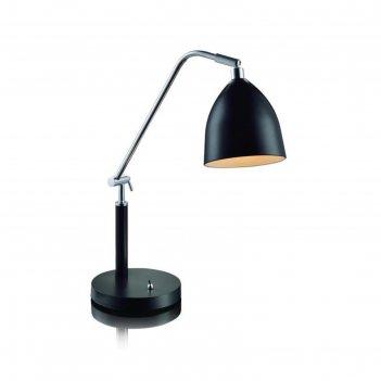 Настольная лампа fredrikshamn 1x40вт e27 чёрный
