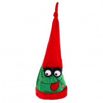 Карнавальная шляпа механическая дразнилка зеленая