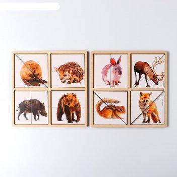 Дидактические игры и материалы. картинки-половинки лесные животные, п202