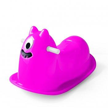 3041 качалка монстрик розовый, dolu