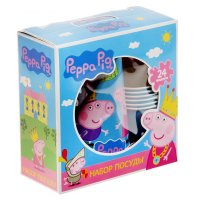 Подарочный набор посуды пеппа-принцесса 24предмета 28567
