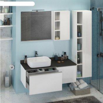 Шкаф-колонна comforty «милан-40» белый