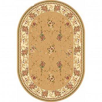 Ковёр хит-сет пп valencia 5455, 2,5*4 м, овал, beige