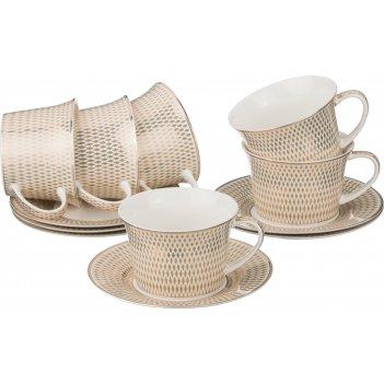 Чайный набор на 6 персон 12 пр.300 мл.(кор=8набор.)