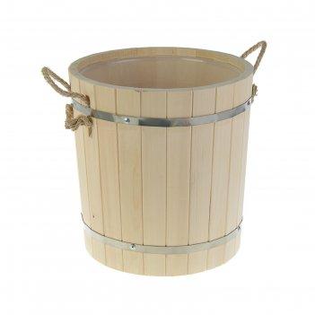 Запарник с пластиковой вставкой 18 литров, липа добрая баня