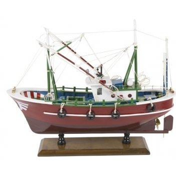 Рыболовное судно. l:45cm, h:35cm. арт. 329