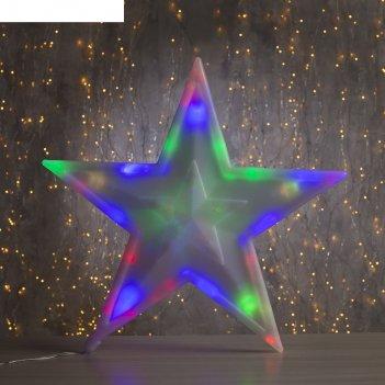 Фигура звезда d-40 см, , 30 led, 220v, контрол. 8р. мульти