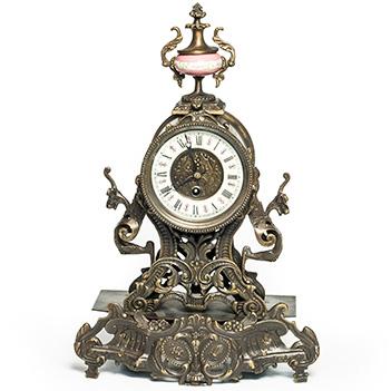 Бронзовые часы композиция время, 44х29х15см