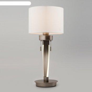 Настольная лампа titan, 1x10вт e27, цвет никель