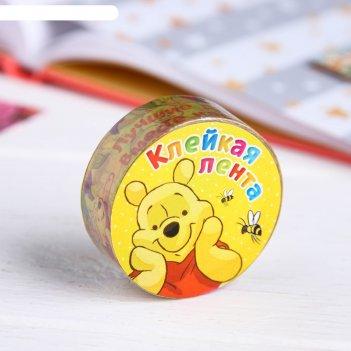 Декоративная клейкая лента бумажная лучшие друзья, медвежонок винни, 1,5 с