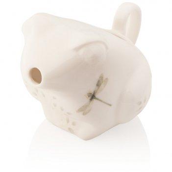 Молочник 10см бабочки на лугу (лягушка)