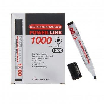 Маркер д/магнитных досок 1000b, 3мм черный, пулевидный 215608