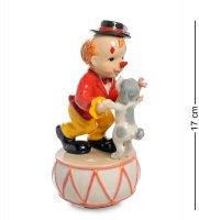 Cms-23/69 муз. статуэтка клоун с собакой (pavone)
