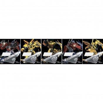 Тетрадь 18л лин transformers картонная обложка выб уф фольга