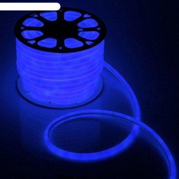 Гибкий неон круглый d 16 мм, 50 метров, led-120-smd2835, 220 v, синий