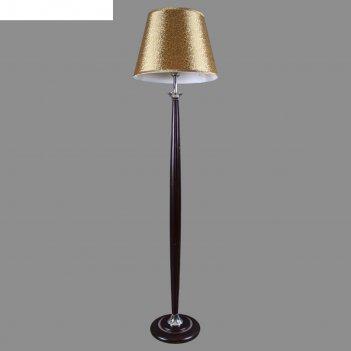 Торшер ферион  деревянный с абажуром, на 1 лампу 220w 40w e27