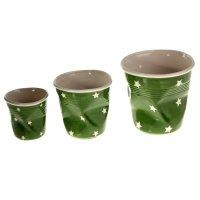 Набор кашпо стакан 3 шт (10x10,13x13,16x16 см), зеленый